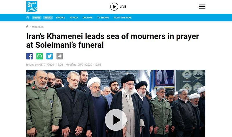 0000 سردار سلیمانی, ghasem soleimani, تشییع, رسانههای خارجی