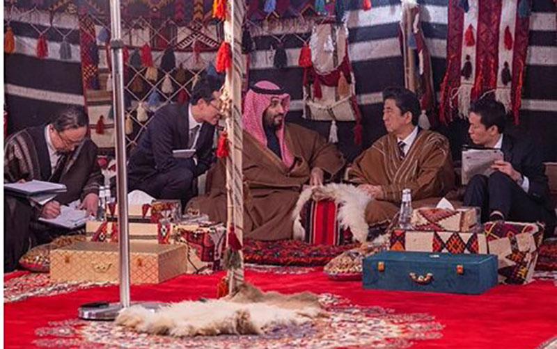 02135 ولیعهد سعودی, عربستان, نخستوزیر ژاپن