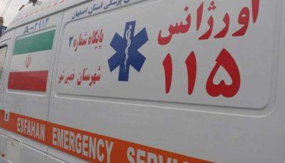5 مصدوم در حادثه واژگونی پراید واژگونی پراید, حادثه, اتوبان کرج