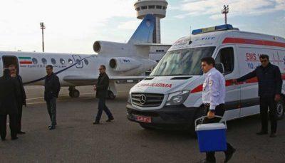 انتقال پانزدهمین قلب اهدایی از رفسنجان به تهران توسط اورژانس هوایی