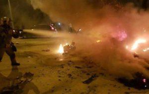 «انفجار تانکر سوخت» در جاده فیروزکوه ۲کشته بر جا گذاشت