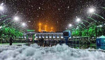 بارش بیسابقه برف در نجف و کربلا (عکس)