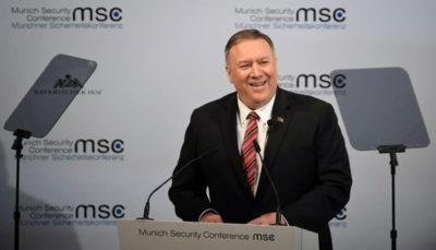 حمله پمپئو به روسیه، چین و ایران در نشست مونیخ
