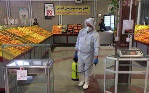 ضد عفونی کردن 245 میدان و بازار میوه و تره بار تهران