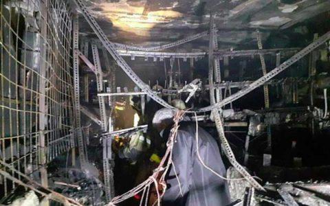 فروشگاه رنگ و ابزار در آتش نابود شد