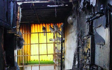 مصدومیت مرد میانسال در آتش سوزی یک منزل مسکونی