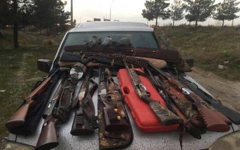 کشف و ضبط چندین اسلحه شکاری در عملیات ویژه یگان حفاظت محیط زیست