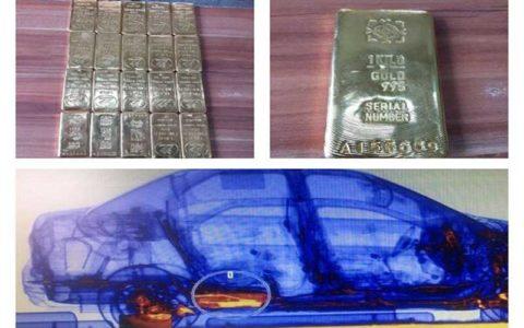 کشف ۲۰ شمش طلای قاچاق در باک سوخت یک خودرو