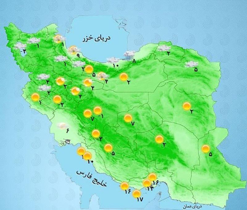 هواشناسی ایران: برف و باران ۵ روزه در مناطق مختلف کشور