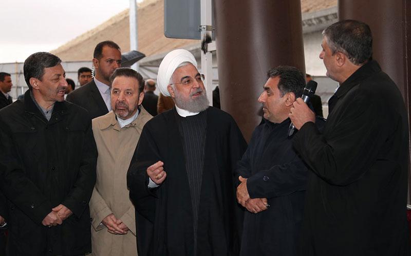 افتتاح آزادراه تهران-شمال با حضور روحانی (تصاویر)