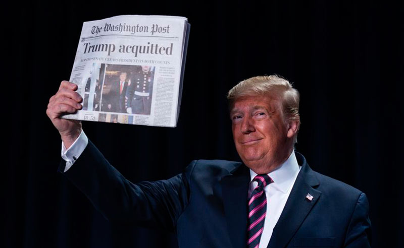 خوشحالی ترامپ از تبرئه شدن (تصاویر)
