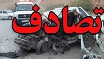 7 مصدوم در پی واژگونی خودروی «ال 90»