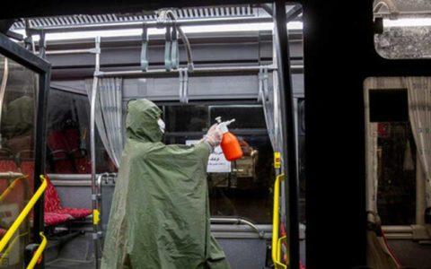 اتوبوسهای تهران هر شبانهروز ۴ نوبت ضد عفونی میشوند