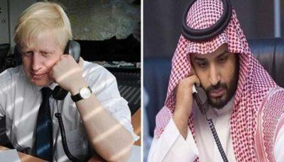 تماس کرونایی ولیعهد عربستان و بوریس جانسون