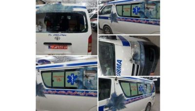 حمله به آمبولانس در محمودآباد مازندران
