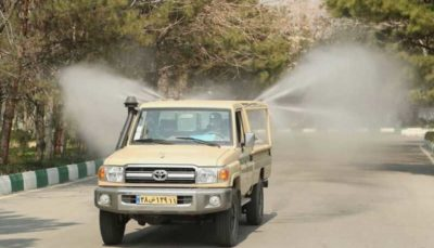 رونمایی از خودروهای جدید ضدعفونی کننده نزاجا ضدعفونی, نیروی زمینی ارتش