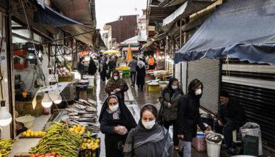 مردم در بازار و خیابانهای رشت مسائل بهداشتی, رشت, ویروس کرونا
