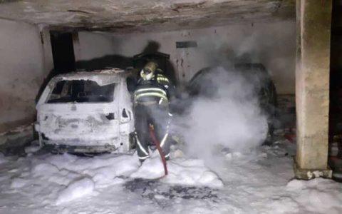 نجات ۴٠ نفر از آتشسوزی در یک مجتمع مسکونی