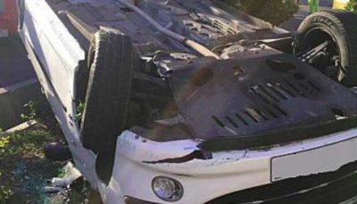 واژگونی خودروی سواری در سعادت آبادراننده مصدوم شد واژگونی خودرو, سعادت آباد