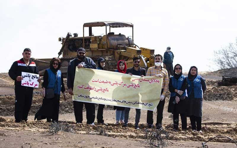 مرگ پاشی در شنزارهای خوزستان با هماهنگی محیط زیست