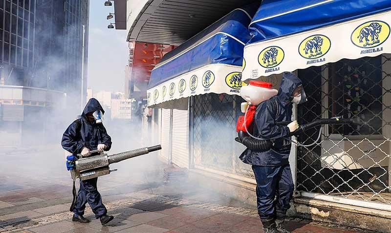 155 سازمان آتش نشانی, ضد عفونی, میدان ولیعصر