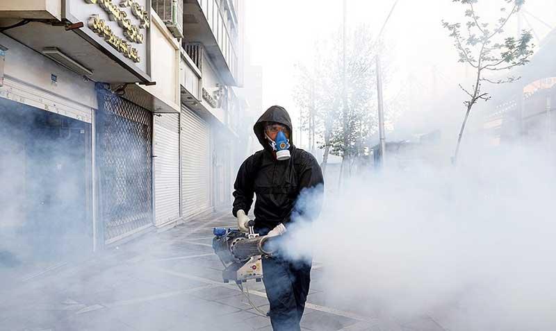 45454 1 سازمان آتش نشانی, ضد عفونی, میدان ولیعصر