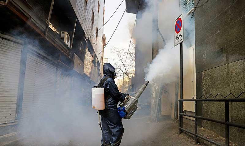 454545 سازمان آتش نشانی, ضد عفونی, میدان ولیعصر