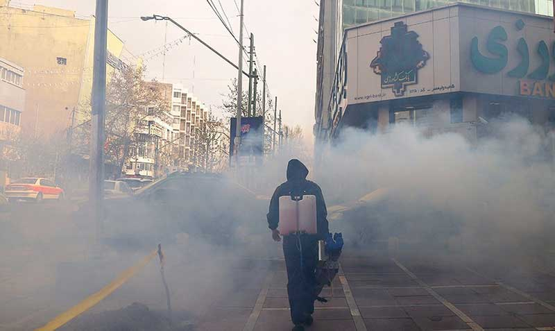 48454 سازمان آتش نشانی, ضد عفونی, میدان ولیعصر