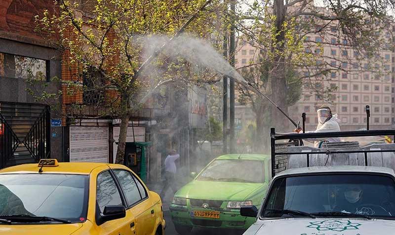 48484 سازمان آتش نشانی, ضد عفونی, میدان ولیعصر