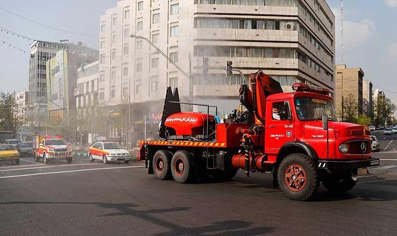 54454 سازمان آتش نشانی, ضد عفونی, میدان ولیعصر