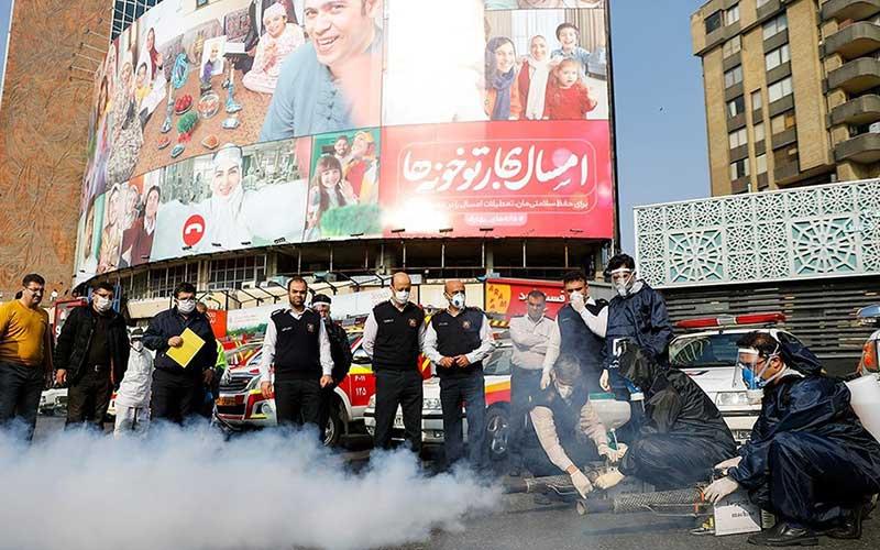 5535 سازمان آتش نشانی, ضد عفونی, میدان ولیعصر
