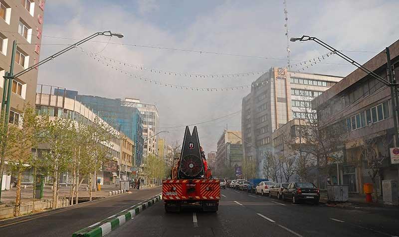 5545454 سازمان آتش نشانی, ضد عفونی, میدان ولیعصر
