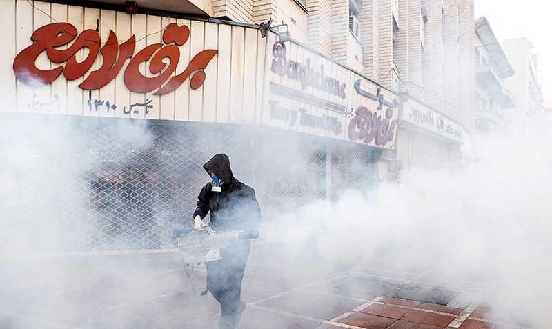 5845 سازمان آتش نشانی, ضد عفونی, میدان ولیعصر