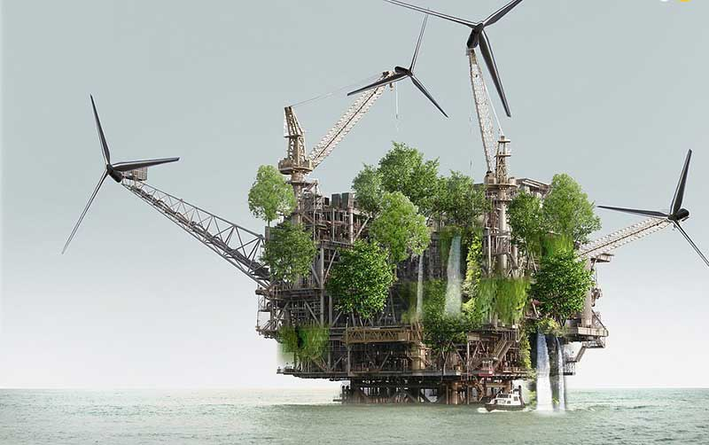 تبدیل سکوهای نفتی به خانههای مسکونی! (تصاویر)
