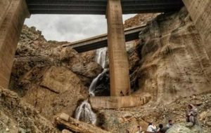 آبشار کشف شده زیر اتوبان جدید تهران شمال! / عکس