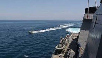 آمریکا ۱۱ شناور ایران به طرز خطرناکی به کشتیهای ما نزدیک شدند شناور ایرانی, خلیج فارس, ارتش آمریکا