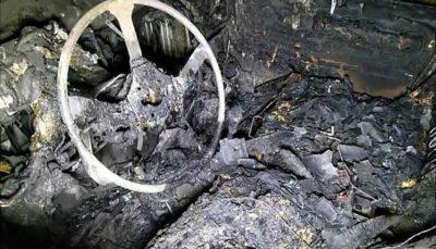 کشف جسد سوخته در آتش سوزی پراید/تصویر