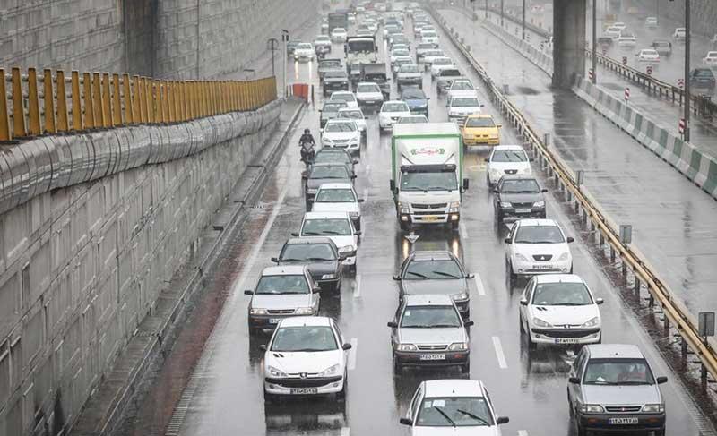ترافیک بزرگراههای تهران در صبح شنبه (تصاویر)