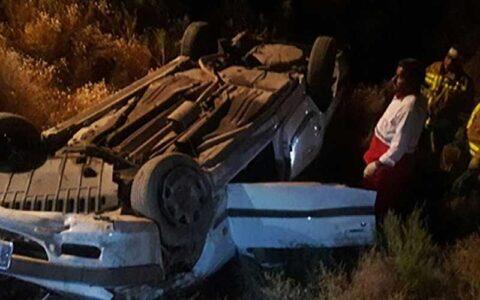  خواب آلودگی راننده در جاده قم حادثه آفرید