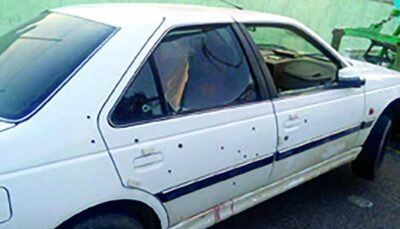 قتل هولناک در مشهد / پژو را با 3 سرنشین به رگبار بستند