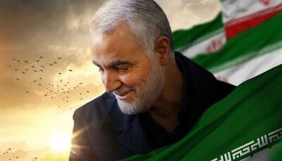 لوگوی جالب و متفاوت روز قدس با تصویرسازی از دست بریده شهید سلیمانی