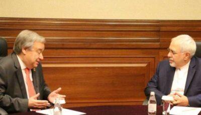 ظریف به گوترش درباره تحریمهای یکجانبه آمریکا علیه ایران نامه ظریف به گوترش درباره تحریمهای یکجانبه آمریکا علیه ایران