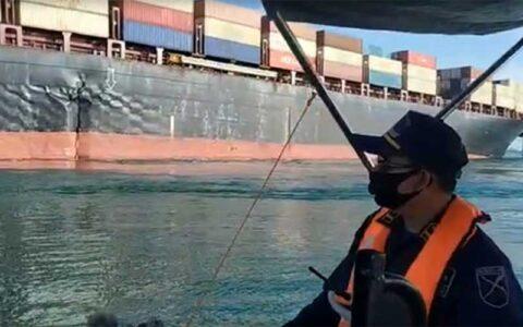 کشتی باری ایران در آبهای سنگاپور به گل نشست