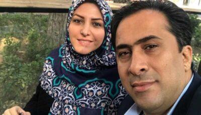 گپ و گفت زن وشوهر مجری روی آنتن شبکه خبر حین زلزله/فیلم