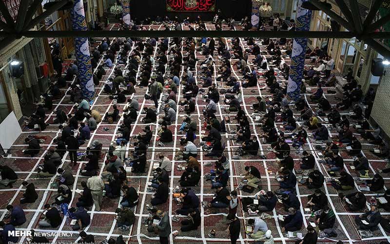 تصاویر متفاوتترین مراسم احیا در مسجد ارگ