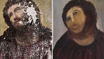 که حین بازسازی نقاشی مشهور به بار آمد