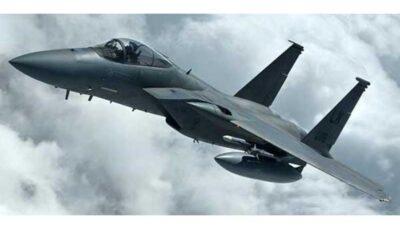 اف ۱۵ آمریکا در دریای شمال سقوط کرد