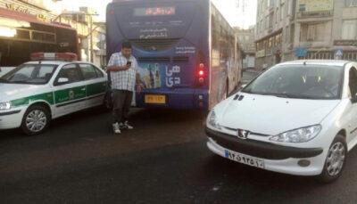 تصادف مرگبار موتورسیکلت با اتوبوس BRT موتورسیکلت, اتوبوس BRT, تصادف مرگبار