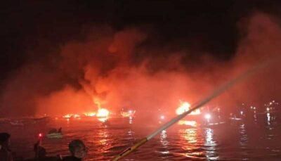 جزئیات آتشسوزی در اسکله صیادی بندر کنگ لنج صیادی, بندر کنگ