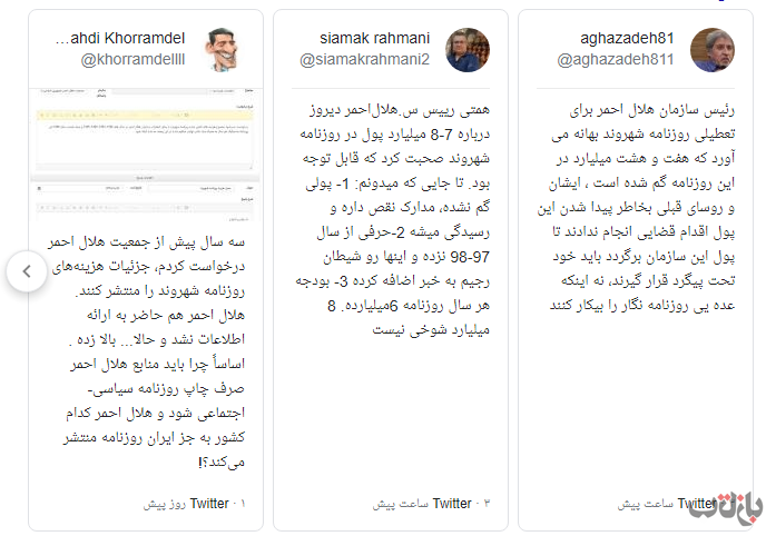استمرار فساد در هلال احمر علی رغم استقرار تیم مدیریتی جدید/ آیا تخلف میلیاردی در روزنامه شهروند، این روزنامه را در آستانه تعطیلی قرار میدهد؟